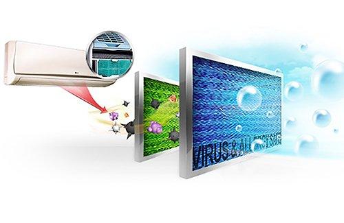 condizionatore d'aria con visualizza di filtro al plasma