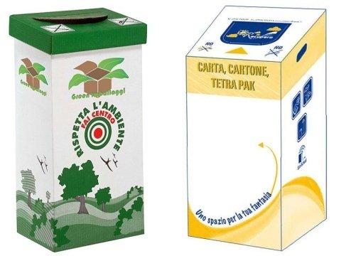 contenitori rifiuti cartone