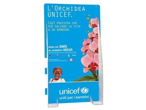 espositore Unicef orchidea