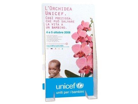 espositore orchidee Unicef