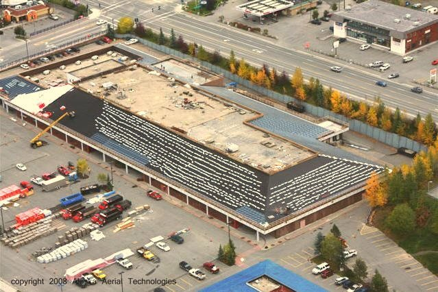Building in process of getting a roof replacement in Anchorage, AK