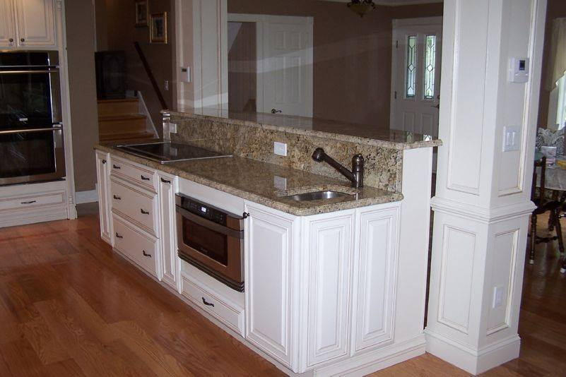 Remodeled kitchen counter