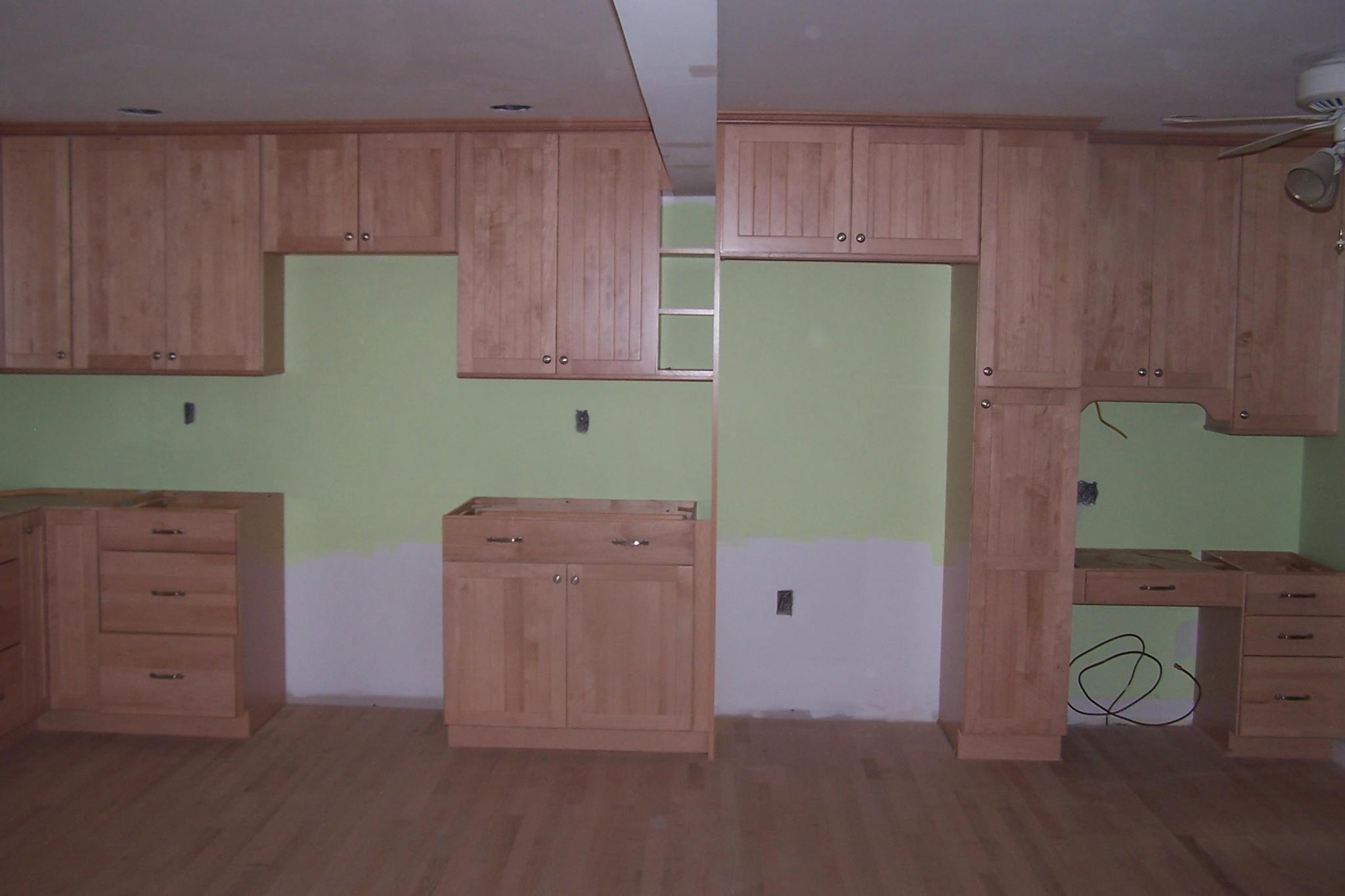Building new kitchen cabinets