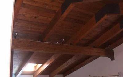 tetto in legno su misura