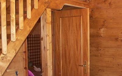 montaggio di case di legno