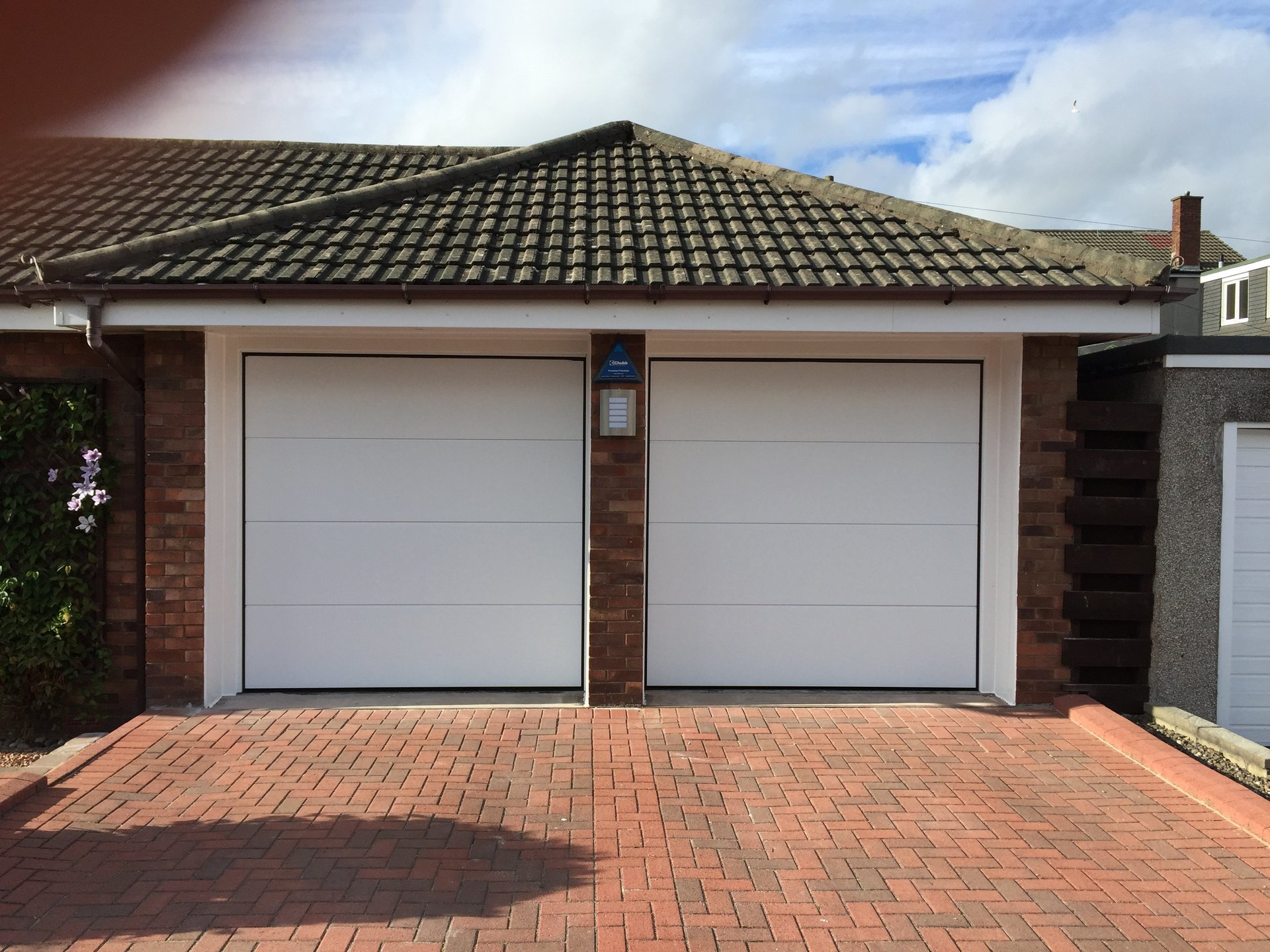 two garage shutters