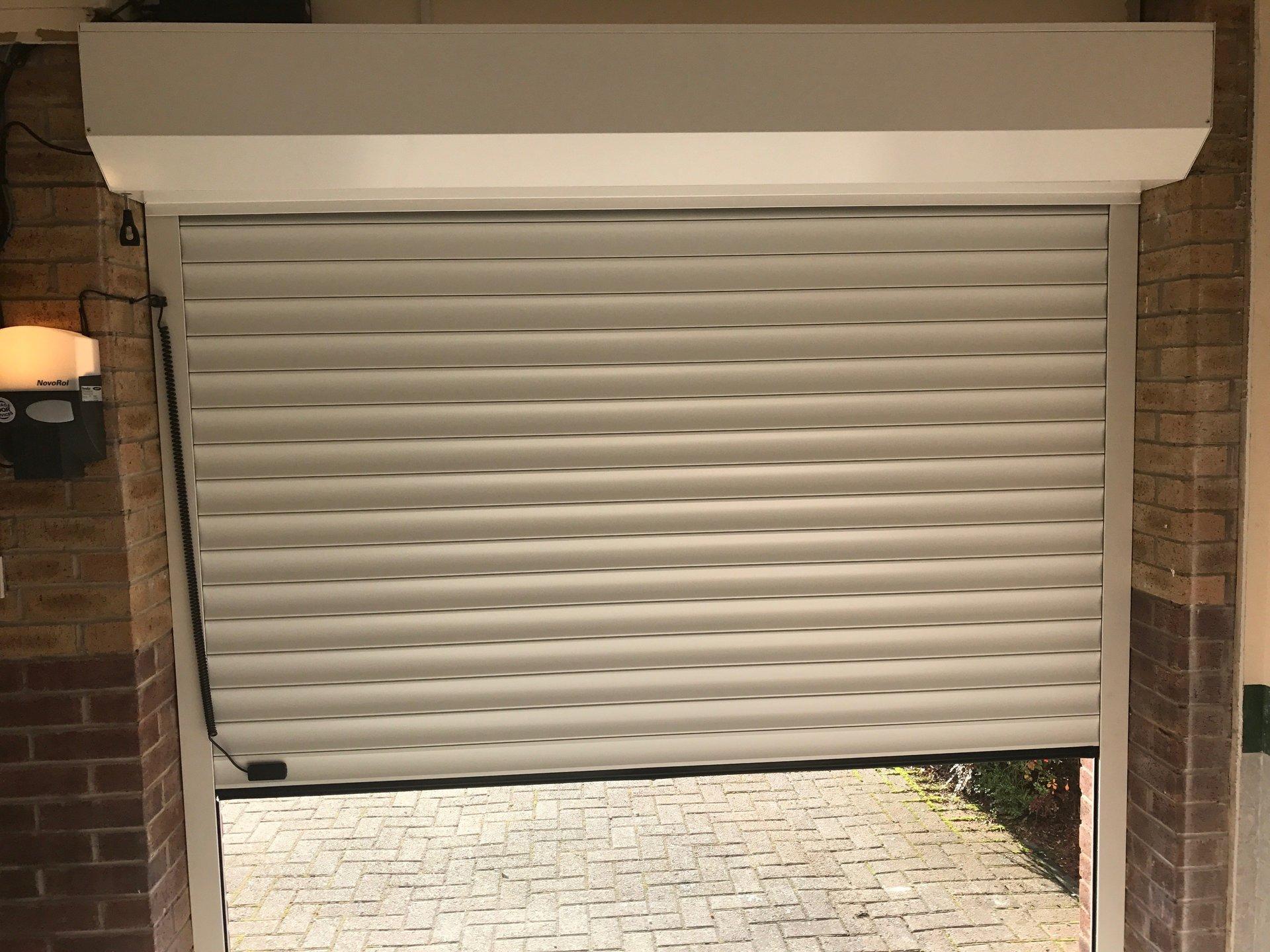 A white shutter