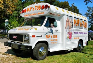 pet groomer bus in Tryon, NC