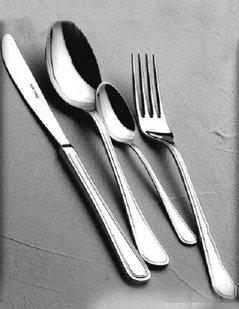 set di posate, posate in acciaio, cucchiaio