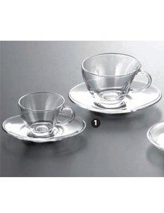 set di tazzine in vetro, tazzine in vetro, tazzine da caffè