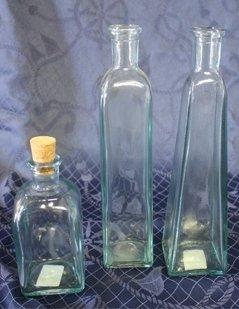 porta olio in vetro, porta liquori in vetro, bottiglie di vetro