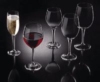 set di calici, bicchieri in vetro