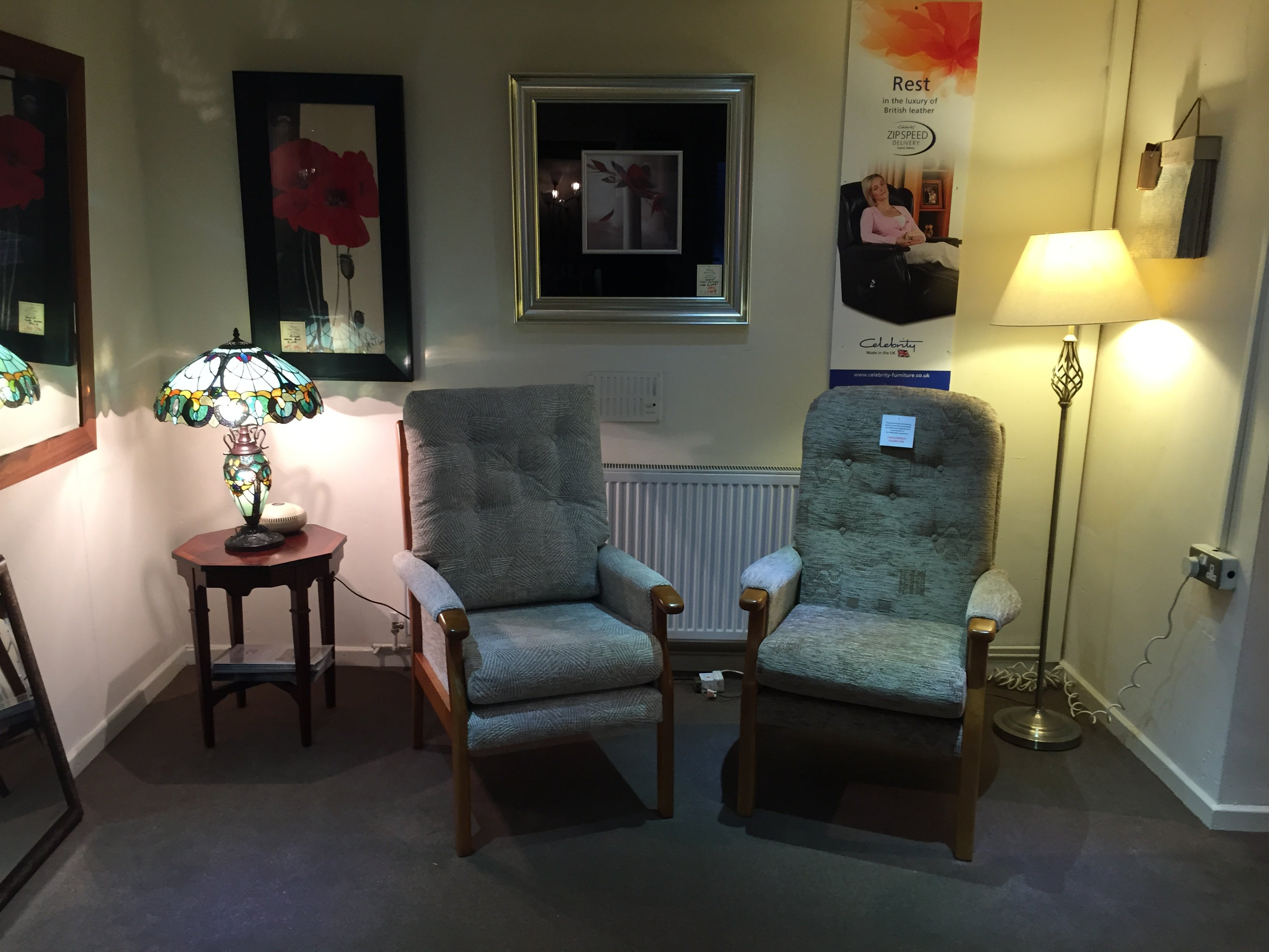 Two high-back chairs