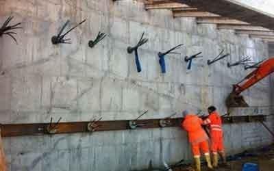 Sostegno muro in cemento armato