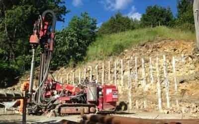 Consolidamento terreno con pali per ampliamento abitazione a bologna