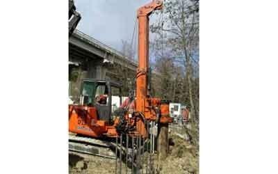 Consolidamento con pali per fondazioni
