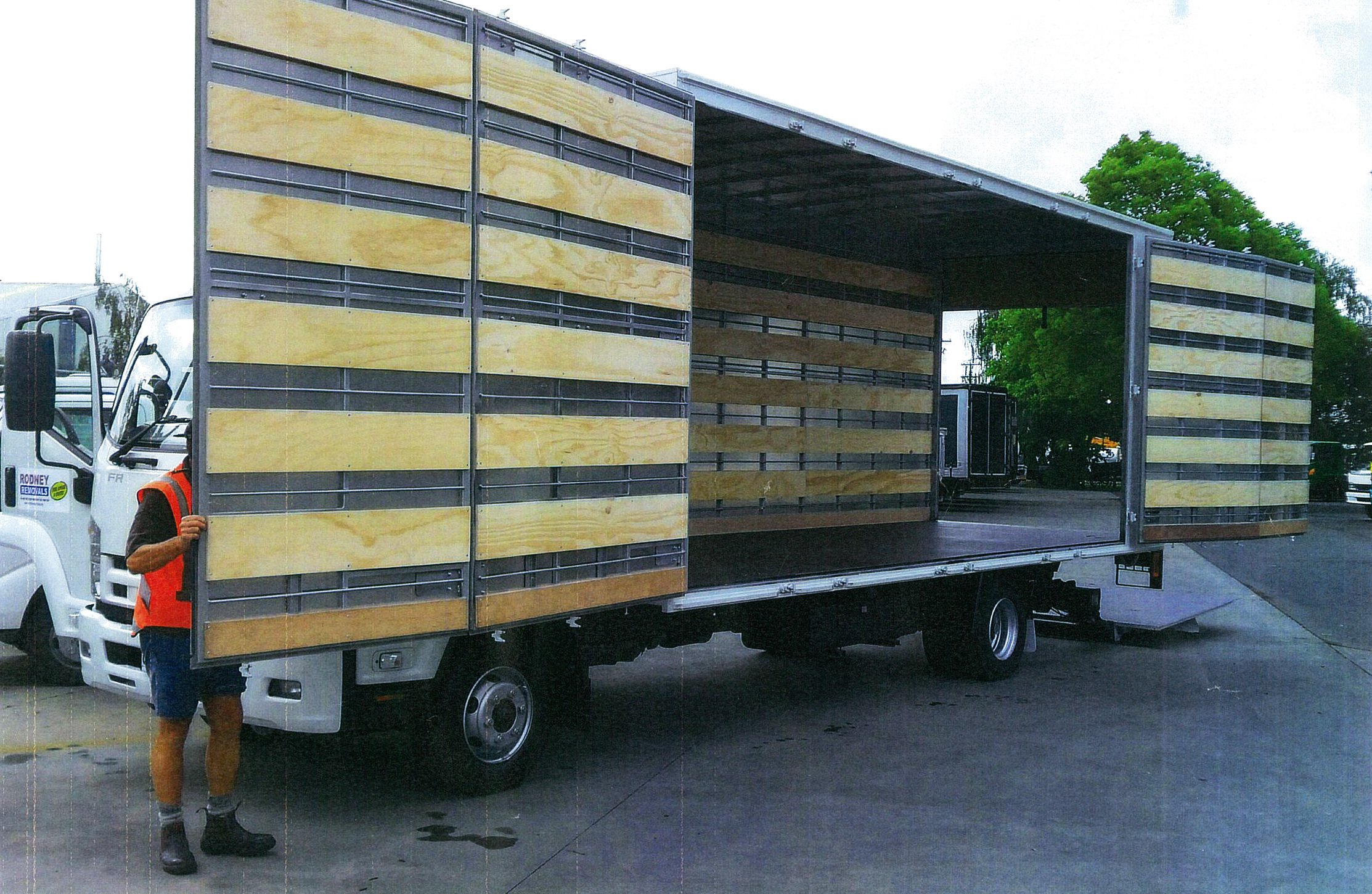 removal truck interior
