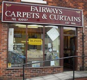 Curtain fitters - Preston, Lancashire - Fairways Carpets - Shopfront.