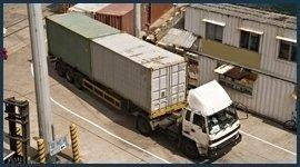 trasporto container