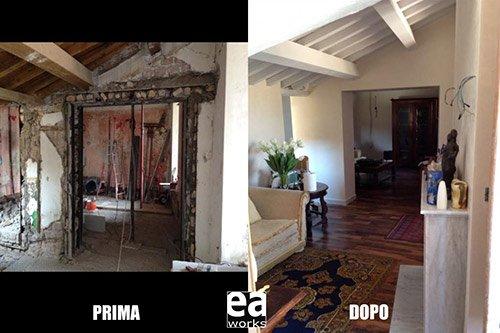 Restauro case storiche roma nord e a works srl for Case antiche ristrutturate