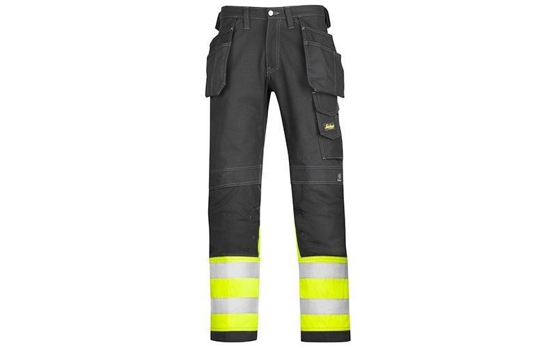 Pantaloni alta visibilità in cotone, tasche esterne, classe 1