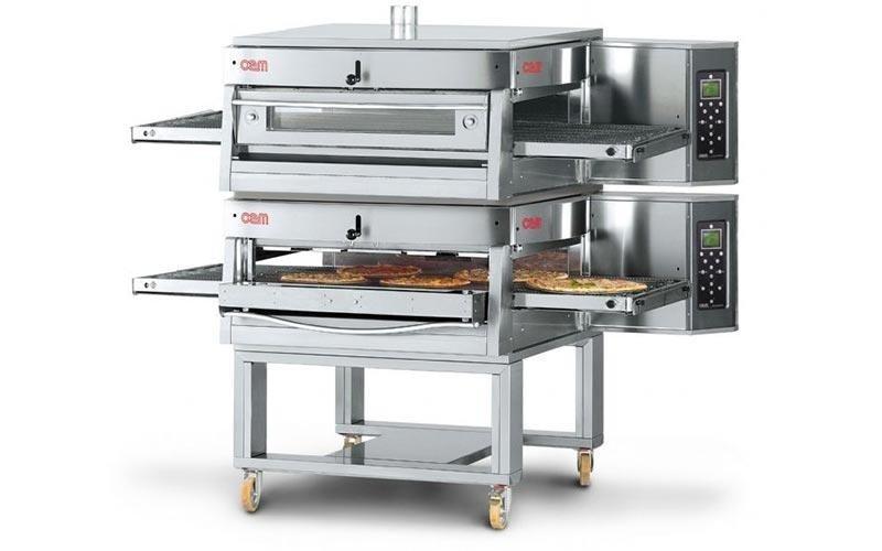 Forno ventilato a gas per la pizza
