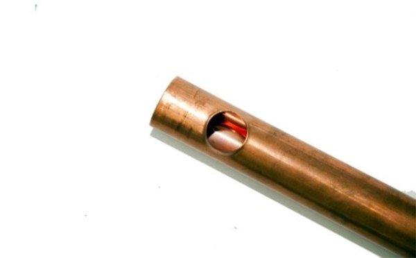 Esempio di foratura tubo per riscaldamento