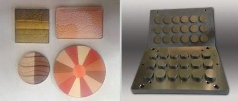 cosmetic powder moulds