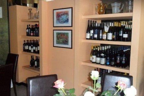 Selezione vini in esposizione