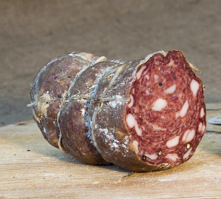 Classic zucchetta (a kind of squash) salami