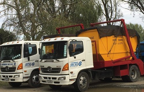 Waste removal trucks