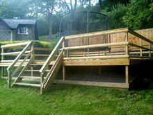 Summer houses - Ebbw Vale, Wales - PRS - Wooden Deck