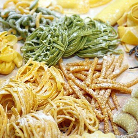 diversi tipi di pasta fresca