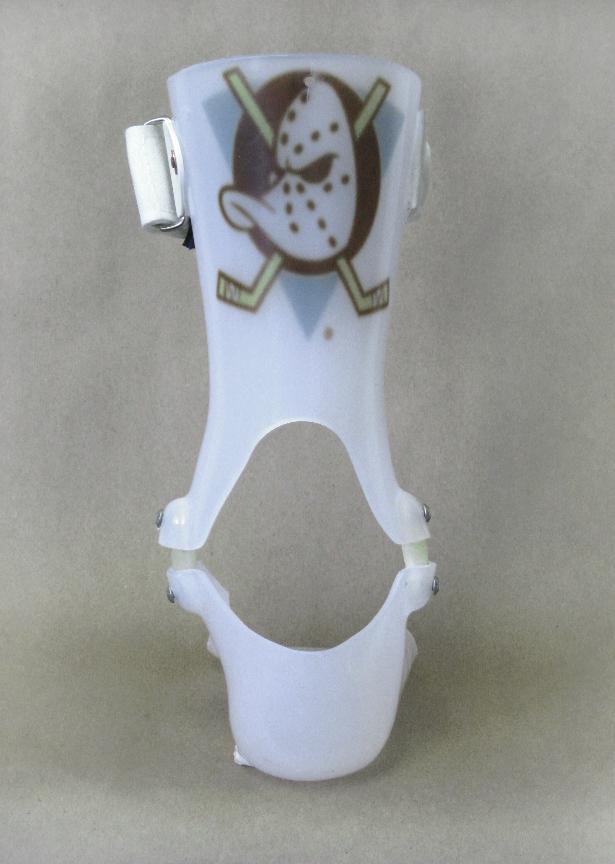 Custom molded plastic hinged ankle foot orthosis (AFO)