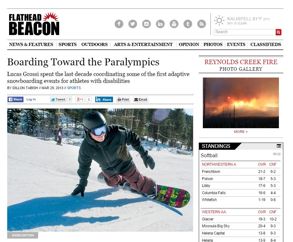 """""""Boarding Toward the Paralympics"""""""