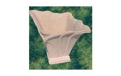 Vaso quadrato imitando foglie con forma arrotondata nella parte superiore