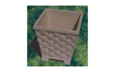 Vaso quadrato con imitacion di tessuto di vimini