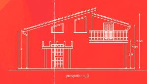 Progetto della facciata di una casa