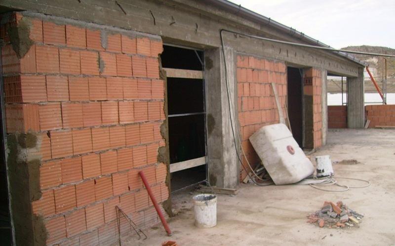 magazzino in fase di costruzione