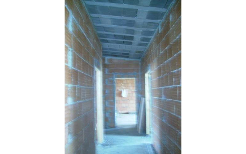 corridoio di palazzo in fase di costruzione
