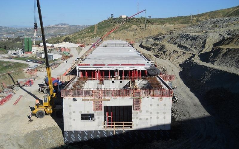 costruzione di edificio sotterraneo