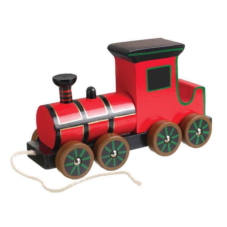 red steam train