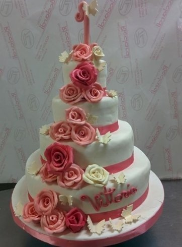 torte, decorazioni di zucchero, dolci