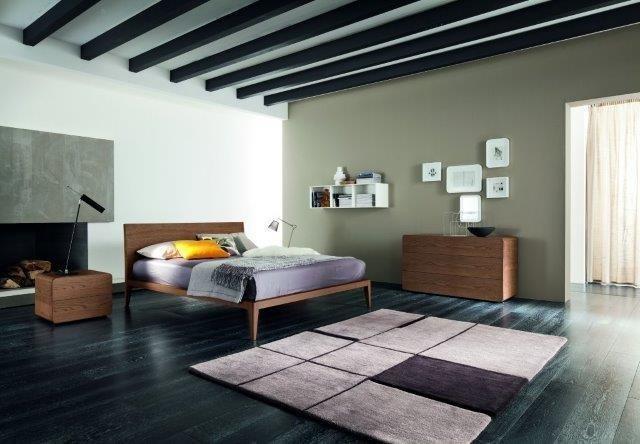 Struttura del letto Impiallacciato in vero legno FRASSINO spazzolato poro aperto