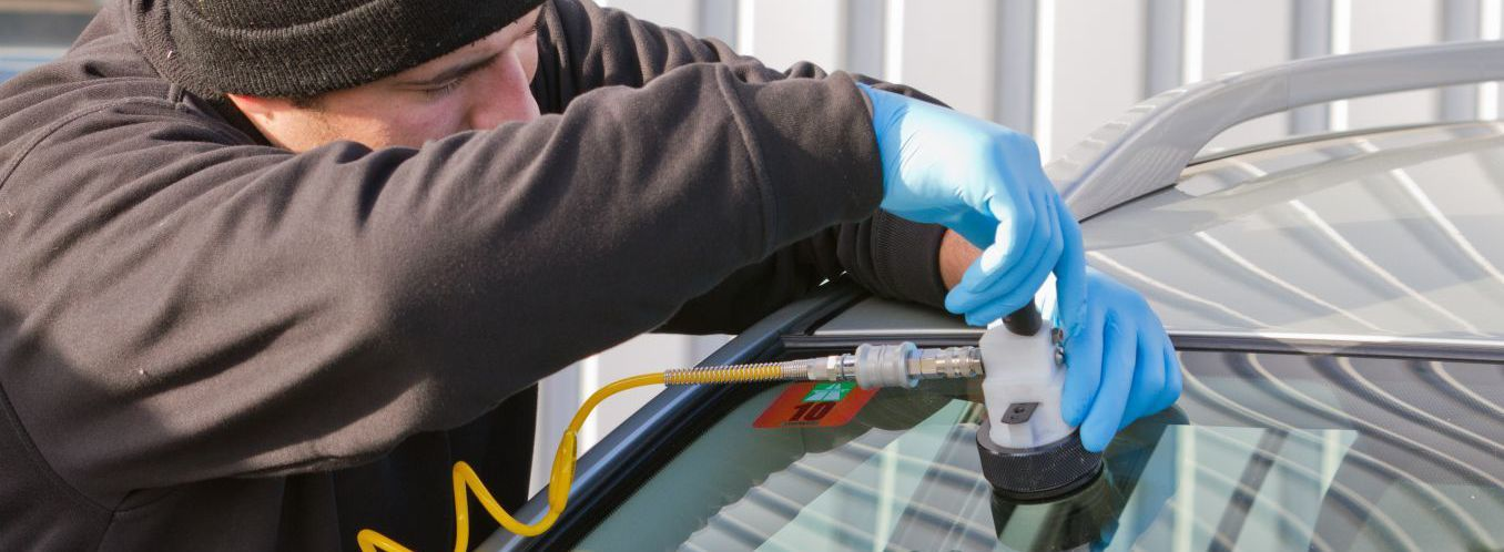 Expert performing windscreen repair in the Waikato