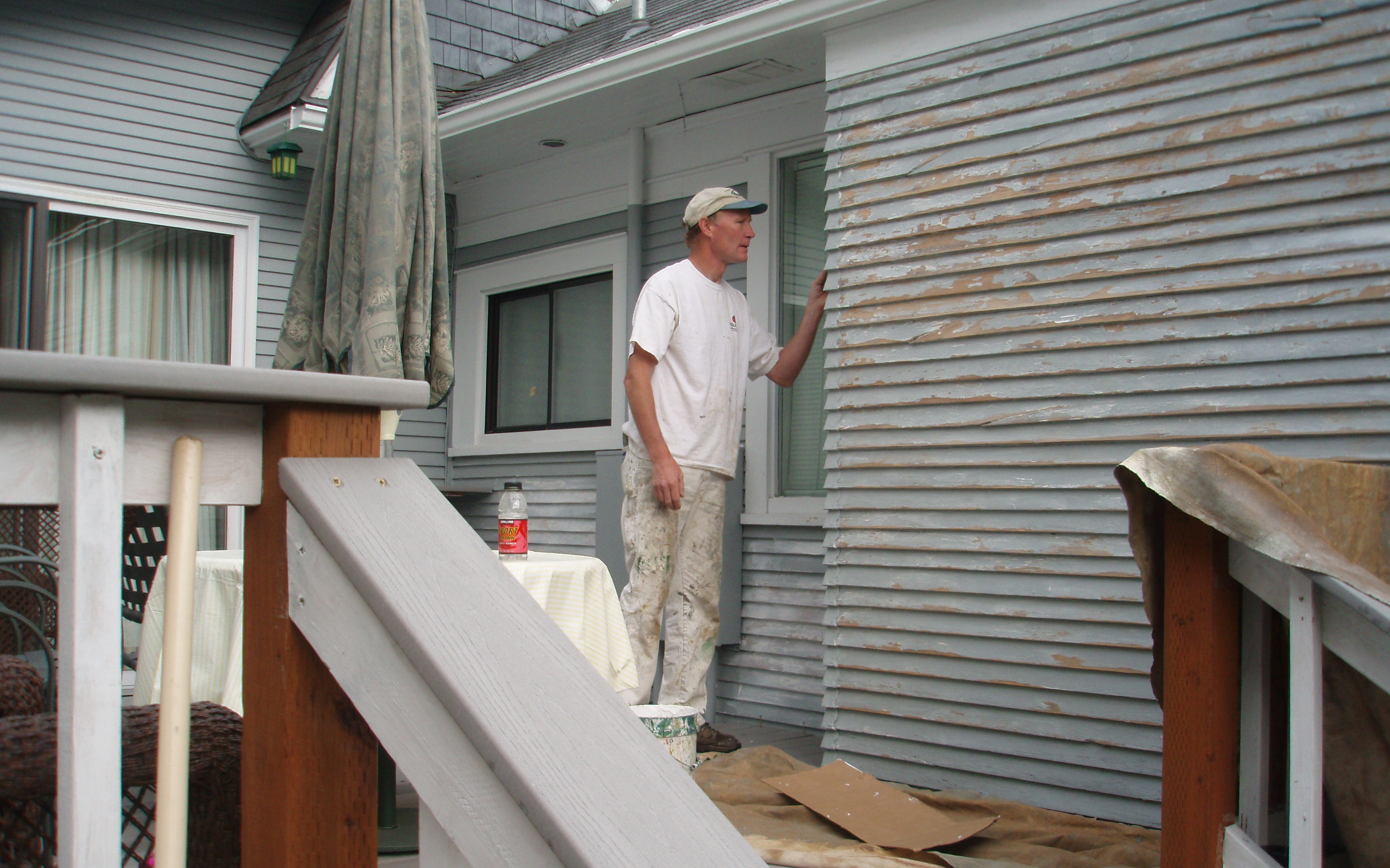 One of our contractors working on painting jobs in Whitefish, MT