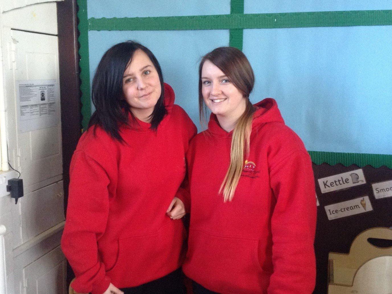 Pre-School Teachers Cassie Killen and Zoe Eagles
