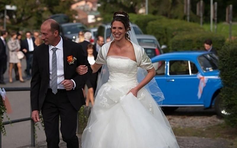 Fotografie sposa al matrimonio
