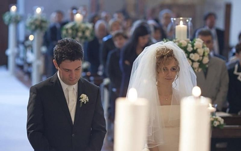 Album fotografico durante le nozze