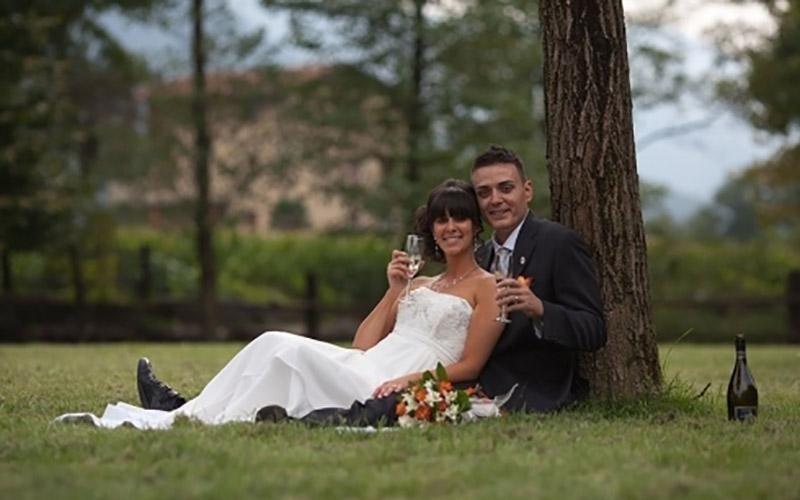 Coppia dopo il matrimonio